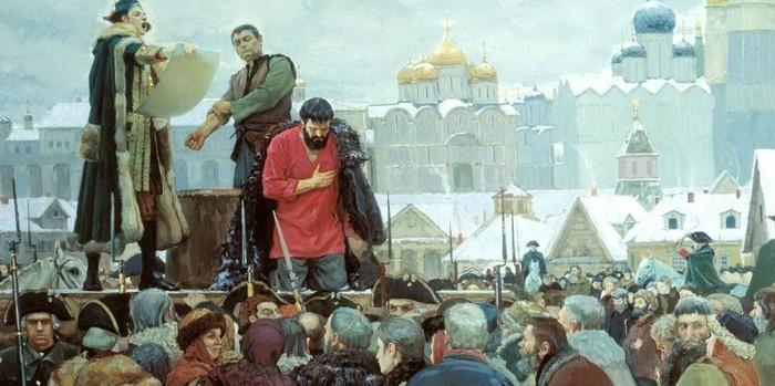 Пугачев перед казнью